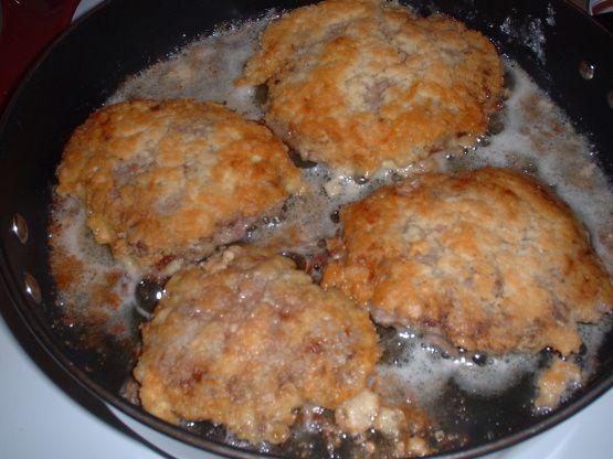 Breaded Fried Cube Steak And Milk Gravy Recipe - Food.com: Food.com