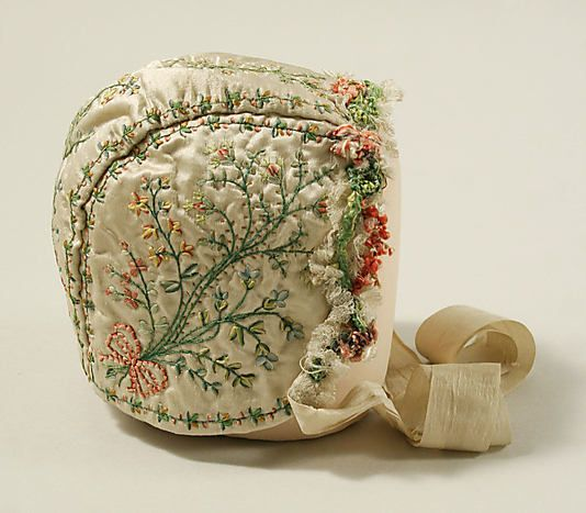 Cap, 18th century, French, silk