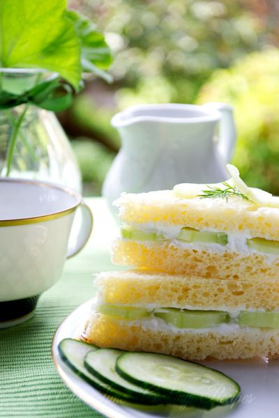 Tea: Cucumber #tea sandwiches.
