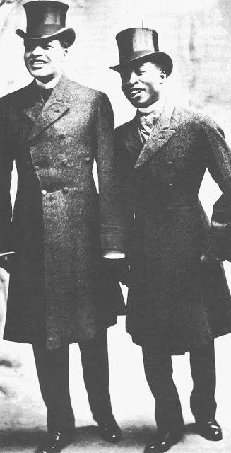 House of Nines Design: Bert Williams and George Walker in silk top hats. www.housofninedesign.com