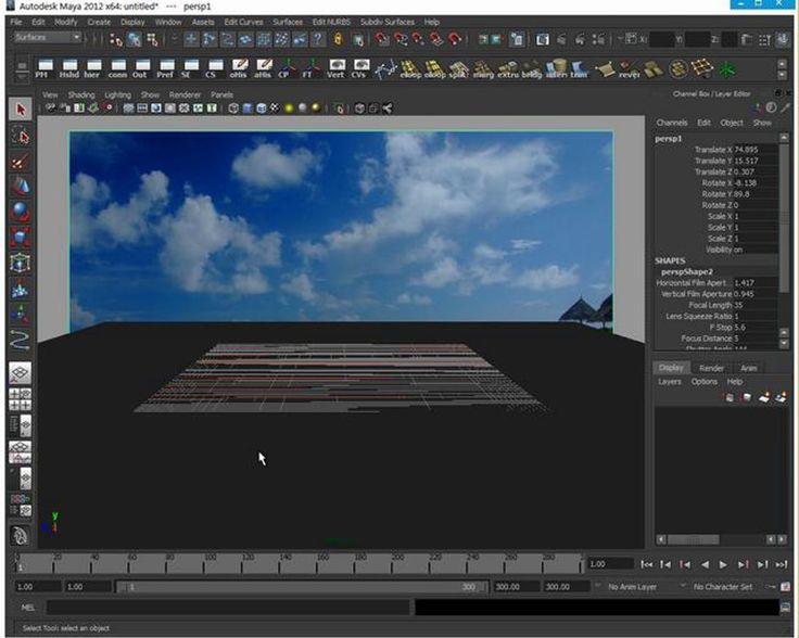 Maya Camera Projection von Bild auf Geometrie / Objekte in Photografie platzieren mit Reflection und Interaktion mit der Umgebung