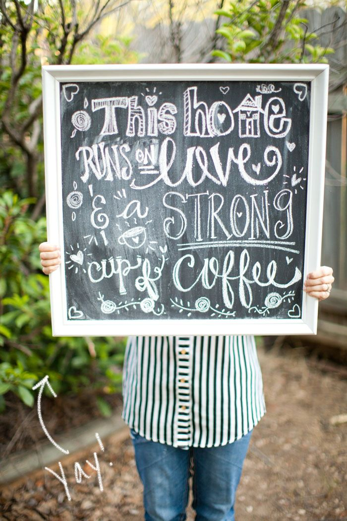 So Shay: DIY: HOW TO MAKE A CHALKBOARD SIGN
