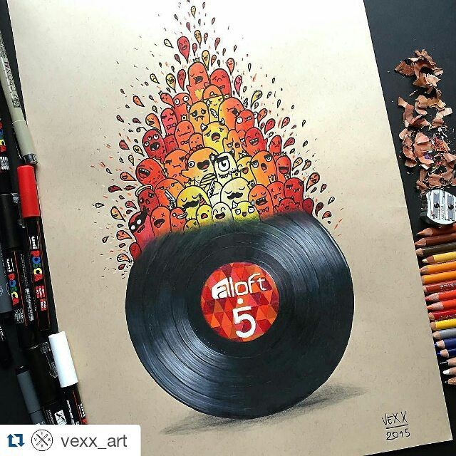 #Repost artwork karya @vexx_art by kelasgambar