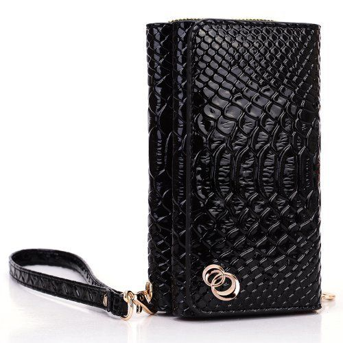 "Samsung Galaxy S3 i9300 Black Crocodile Pattern Fashion Wallet Clutch Carrying Cover Case Uptown Series + EnvyDeal Velcro Cable Tie by Kroo. Save 50 Off!. $29.99. Form fit feature protects back and sides from scratches, dirt and bumps. Approximate Phone Compartment Dimensions: 5.3"" x 3.3"" x 0.3"". Removable wrist strap. The Best Selling Smartphone Wallet Clutch. Carry All You Need with Your Phone. What better way to protect your brand new device than this stylish but practical wallet. T..."