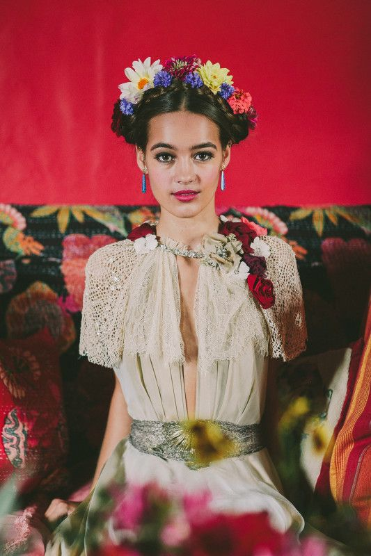 festival brides || day of the dead: a mexican styled wedding shoot with mr & mrs unique  shot by we heart pictures