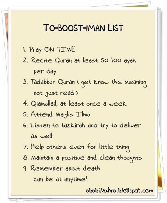 To-Boost-Imaan List