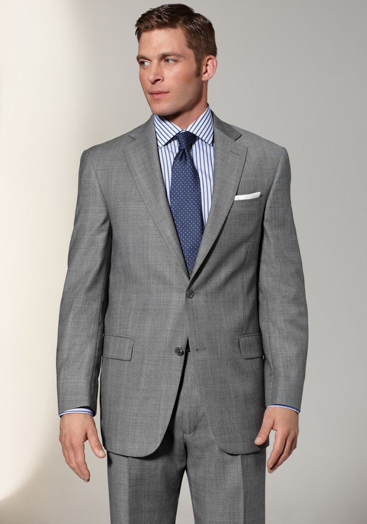 grey suit blue shirt and blue tie | Suits and Wedding attire for