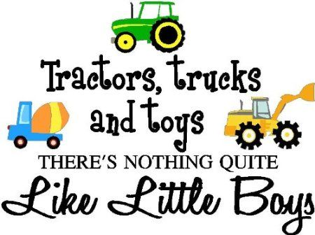 Inspirational Quotes About Little Boys | ... little boys (PRINTED trucks) cute inspirational home vinyl wall quotes
