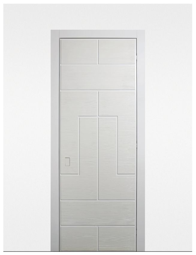 labyrinth refined design interior door with a lacquered fir blockboard door jamb door