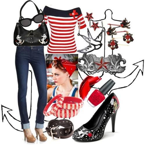 sailor girl pin up style i want this purse and shoes pin up pinterest style girls and. Black Bedroom Furniture Sets. Home Design Ideas
