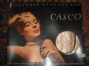 a vintage casco electric heating pad with nite light switch original boxworks