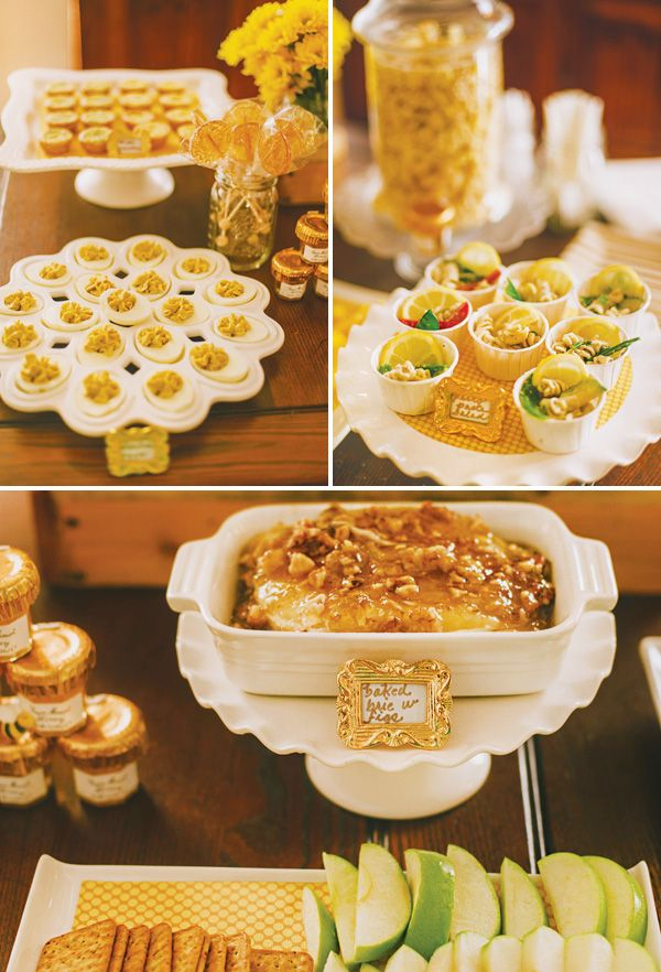 Yellow Bumblebee Themed Honeycomb Baby Shower
