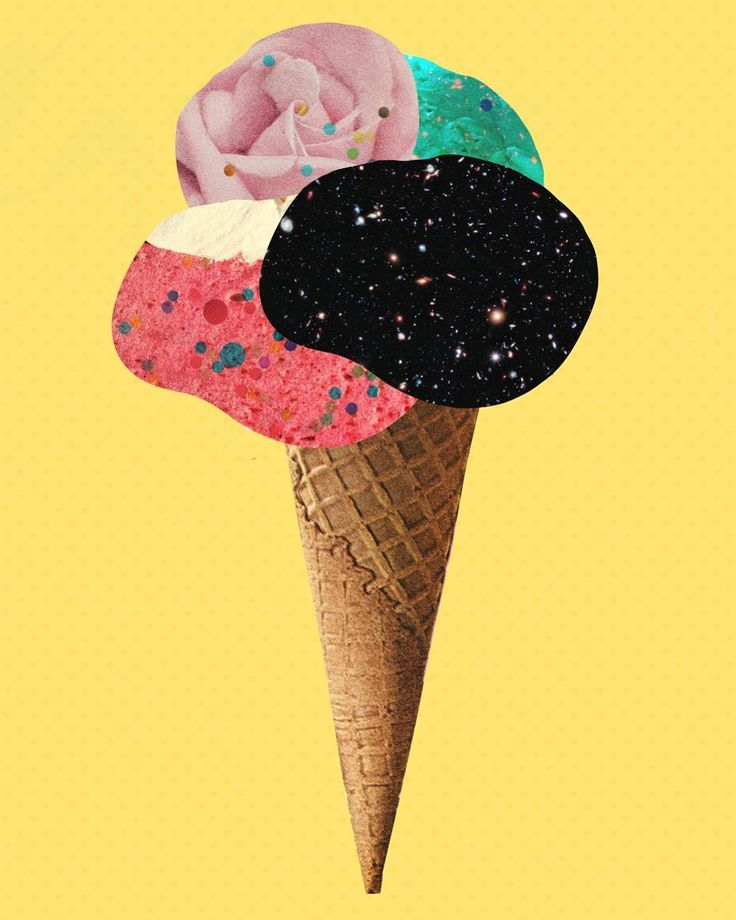 ice cream collage illustration by laura redburn