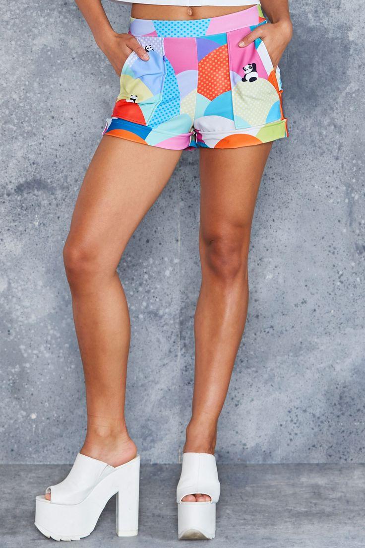 Panda To Me Cuffed Shorts - 48HR ($70AUD) by BlackMilk Clothing