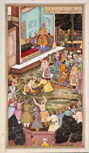 Treasures From the Mughal Empire -  Akbar fights Raja Man SinghThe New York Times