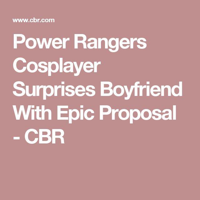 Power Rangers Cosplayer Surprises Boyfriend With Epic Proposal - CBR