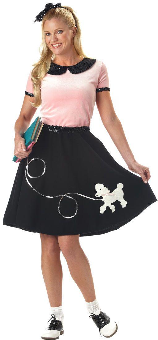 Sock Hop 50s Poodle Skirt Costume