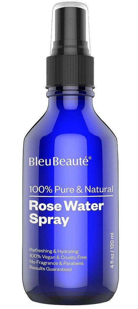 @bleubeaute ROSE WATER SPRAY-100% Pure Facial Toner and cleanser-for Dry Acne skin- with a Floral Scent ( 4 Oz) www.bleubeaute.com