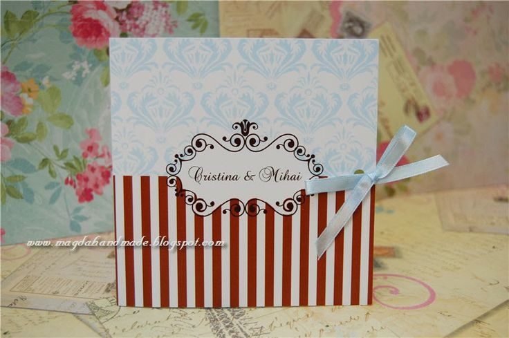 Handmade Wedding Invitations - Shabby Chic 5