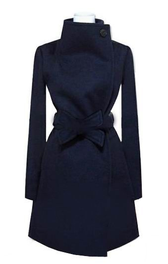 Gorgeous Slim Blue Long Big Lapel Coat Star Stalker