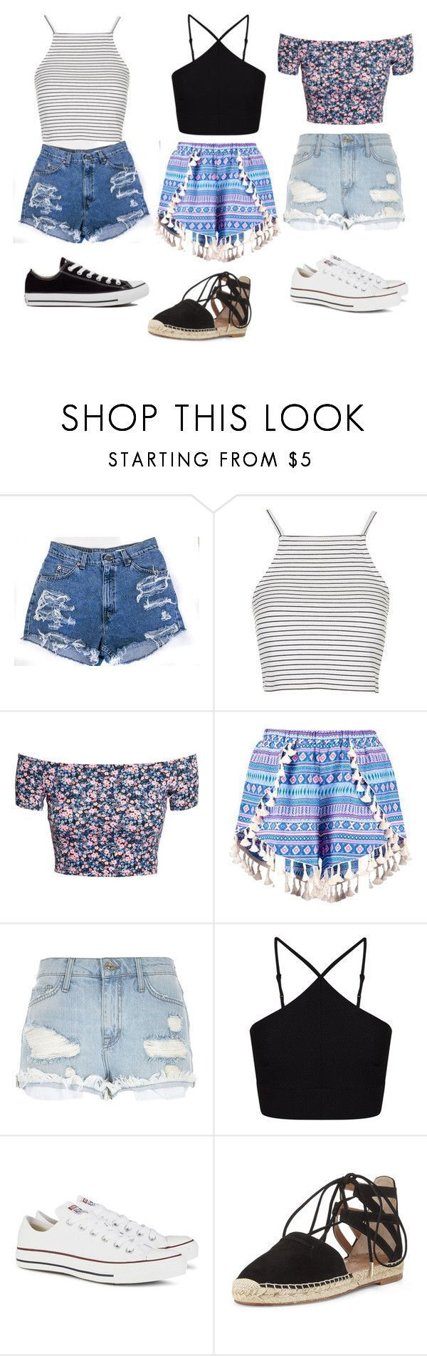 """""""Summer outfits """" by skyscraper1432 ❤ liked on Polyvore featuring Topshop, H&M…"""