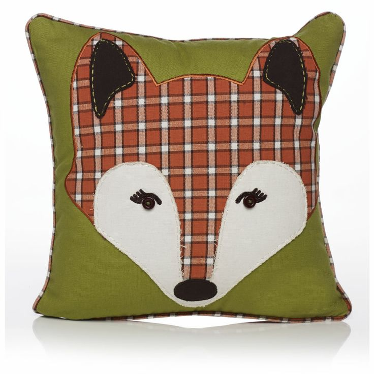 Wilko Animal Pillow : Fox Applique Cushion 30cmx303cm Pillows Pinterest