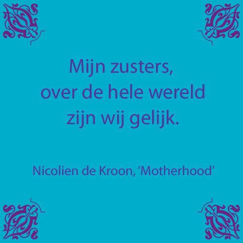 Citaat uit: 'Motherhood, 18 jaar en meer dan 200.000 bananendozen voor kinderen en moeders' van Nicolien de Kroon