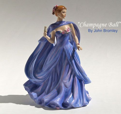 limited edition figurines, bone china figurines, figurines, john bromley.. I just love these porcelain ladies..