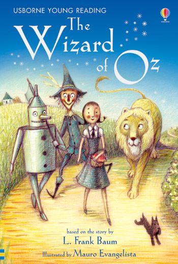 """Il classico """"The Wizard of OZ"""" per giovani lettori. Edizione Usborne Young Reading."""