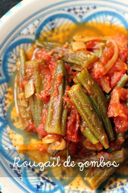 Rougail de Gombos / Spicy Okra in Tomato Sauce
