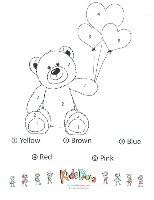 Learn basic number recognition, how to use a legend and reveal the Teddy with…