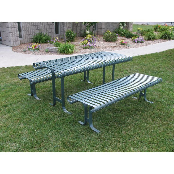 Outdoor Paris Equipment Serenity Series 6 ft. Metal Picnic Table - PSSPT-6 - CB