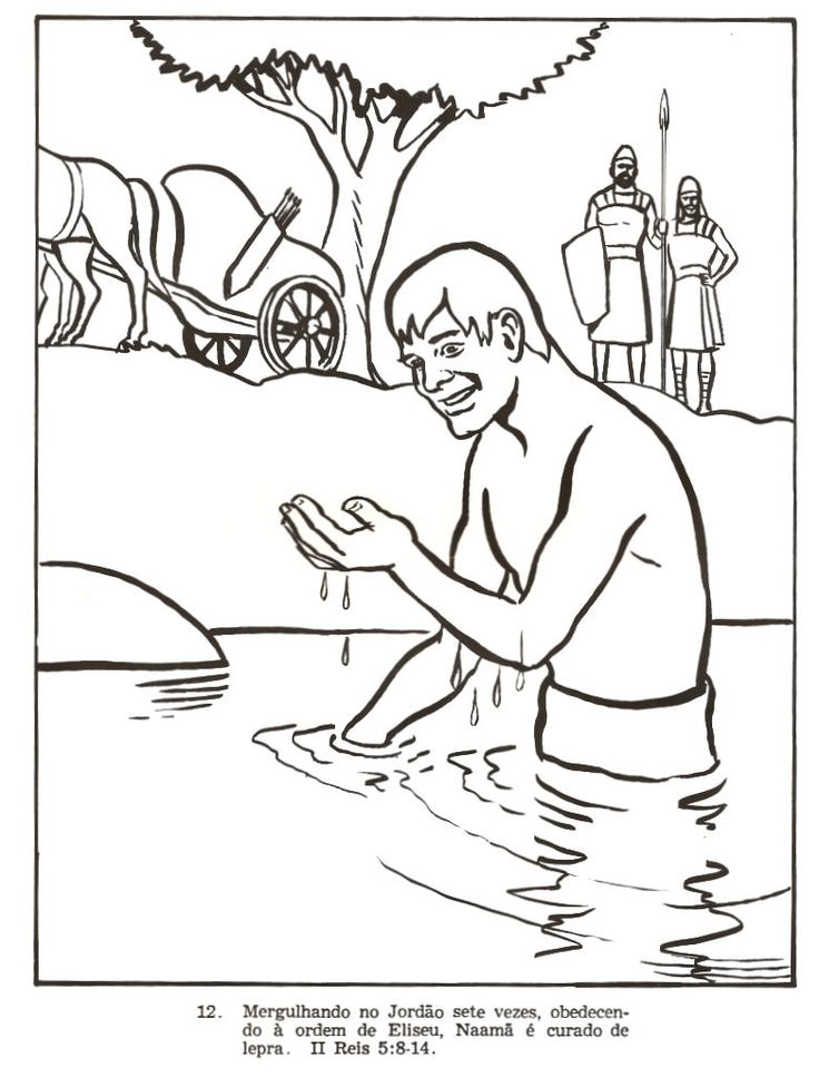 bible coloring pages naaman - photo#7