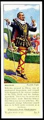 Typhoo Tea Card - Malvolio ~ Twelfth Night