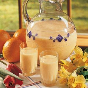 Morning Orange Drink. My mom use to make this for me and my sister. Yummy. Making it this weekend.