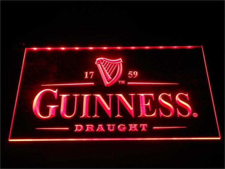 Guinness Vintage Logos Beer LED Neon Sign Bar #Unbranded