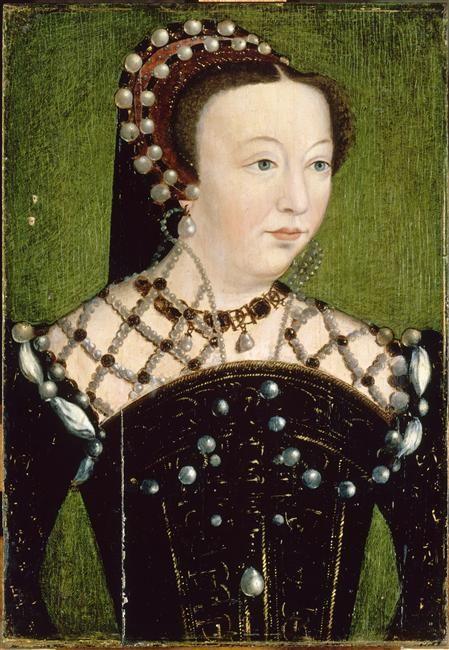 Catherine de Médicis, reine de France (1519-1589)- vers 1556 (d'après) Clouet François