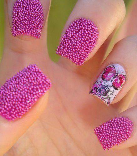 caviar de uñas decoradas
