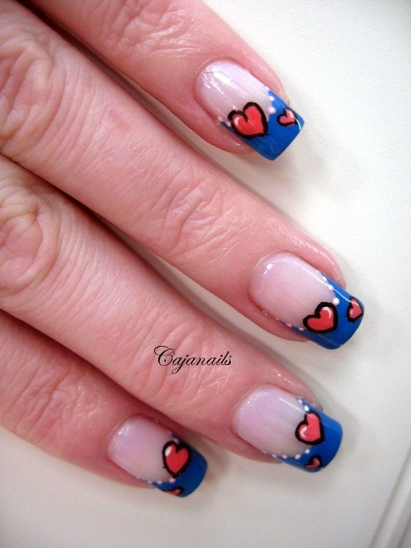 45 Cute Valentine Nail Art Designs to spread Love - Page 2 of 3 - Latest Fashion Trends
