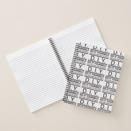 Personalized Custom Color DIY Do It Yourself Notebook - business logo cyo personalize customize diy special