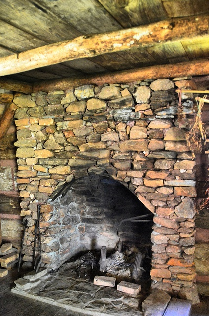 Cabin Fireplace by RandomConnections, via Flickr