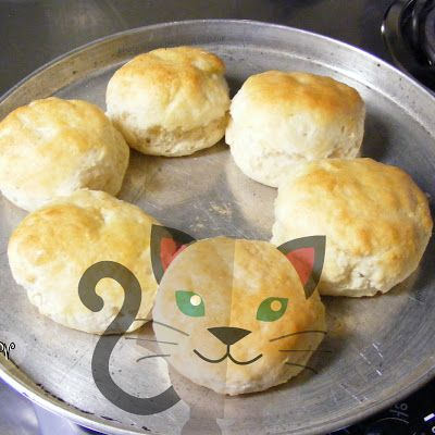 """Old-Fashioned Cat Head Biscuits - Rustic homemade biscuits made the old fashioned way like my mawmaw did, totally by hand. They got the name because they were said to be as """"big as cat heads!"""""""