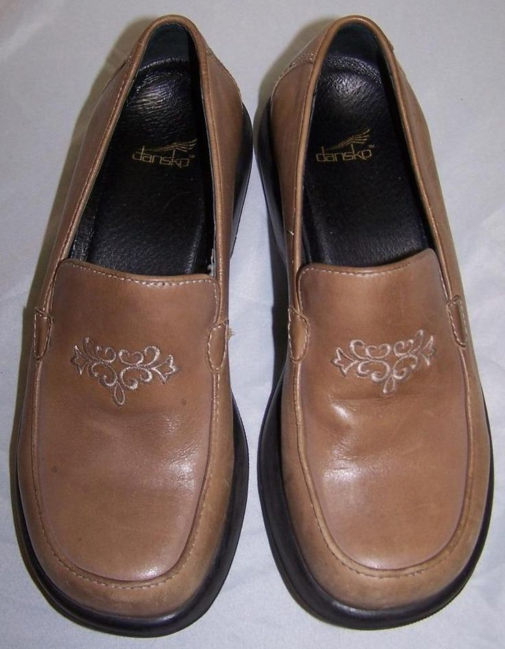 Dansko Brown Leather Women's Clogs Loafers Shoes EU 38 / US 7.5 7 1/2 #Dansko #Loafers #Casual
