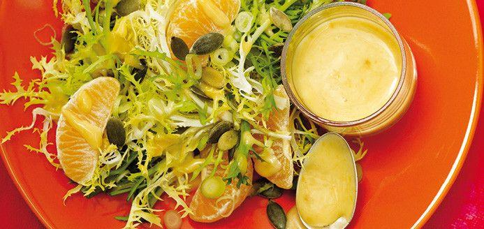 Salade verte et vinaigrette crémeuse à la clémentine Recettes | Ricardo
