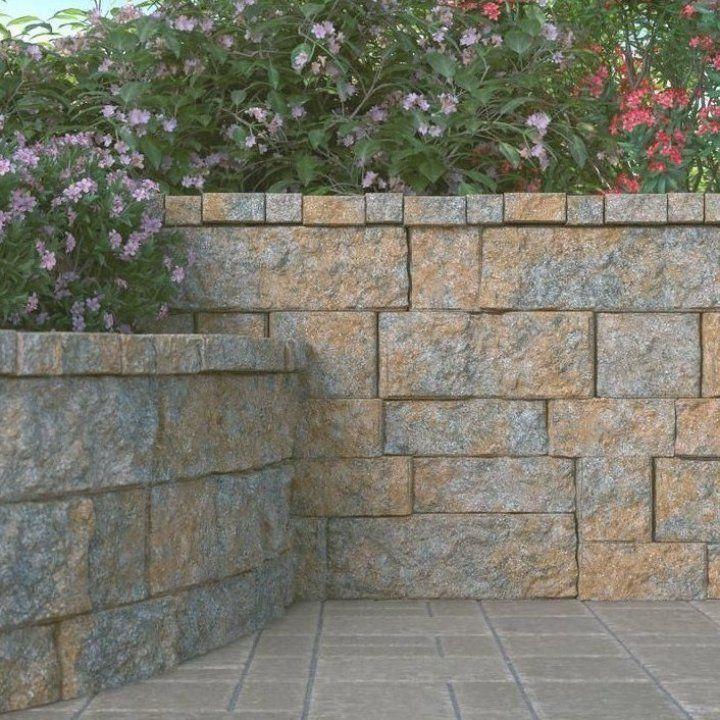 Pavestone Rockwall Large 6 In X 17 5 In X 7 In Yukon Concrete Retaining Wall Block In 2020 Concrete Retaining Walls Retaining Wall Block Landscaping Retaining Walls