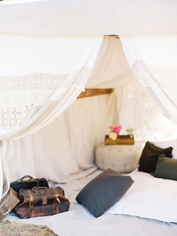 glamping wedding lounge for guests