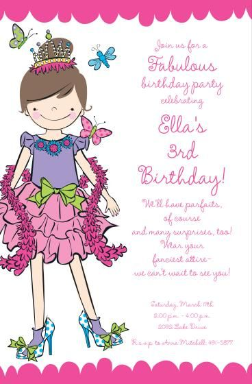 Dress Up Birthday Party Invitations by Invitation Duck