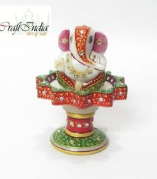 Buy eCraftIndia Lord Ganesha on Marble Stand other-home-accessory online