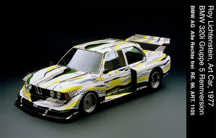 1977 BMW 320i art car by Roy Lictenstein - top front view