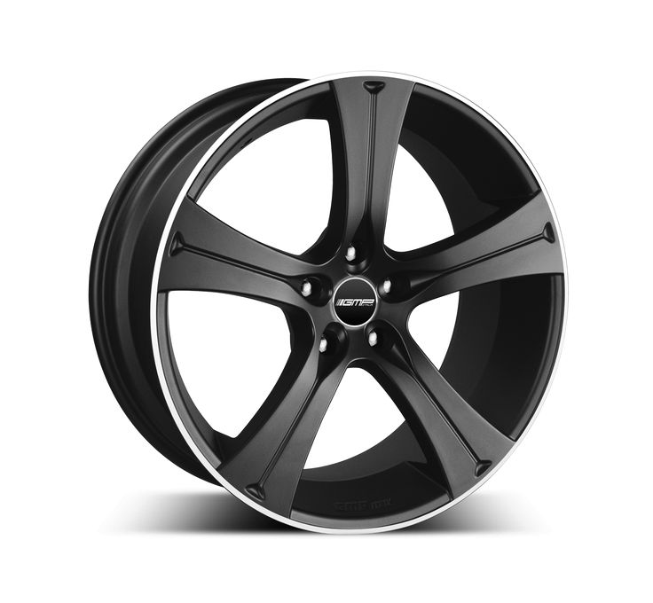 Buran Matt Black Diamond Lip Alloy wheel / Cerchio in lega leggera Buran Nero opaco bordo Diamantato Side